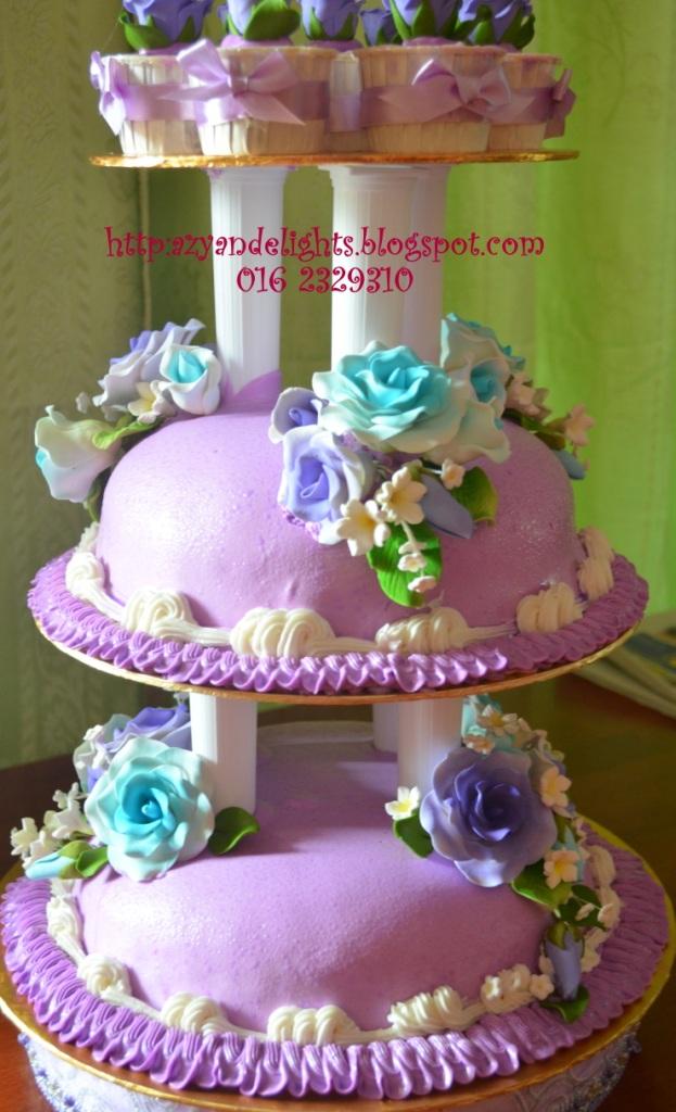 Azyandelights Wedding Cake Purple Theme