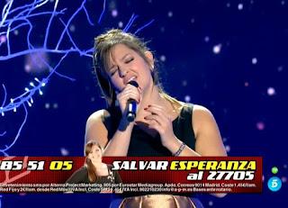 Esperanza canta Broken Vow de Lara Fabian. Semifinal La Voz 2016
