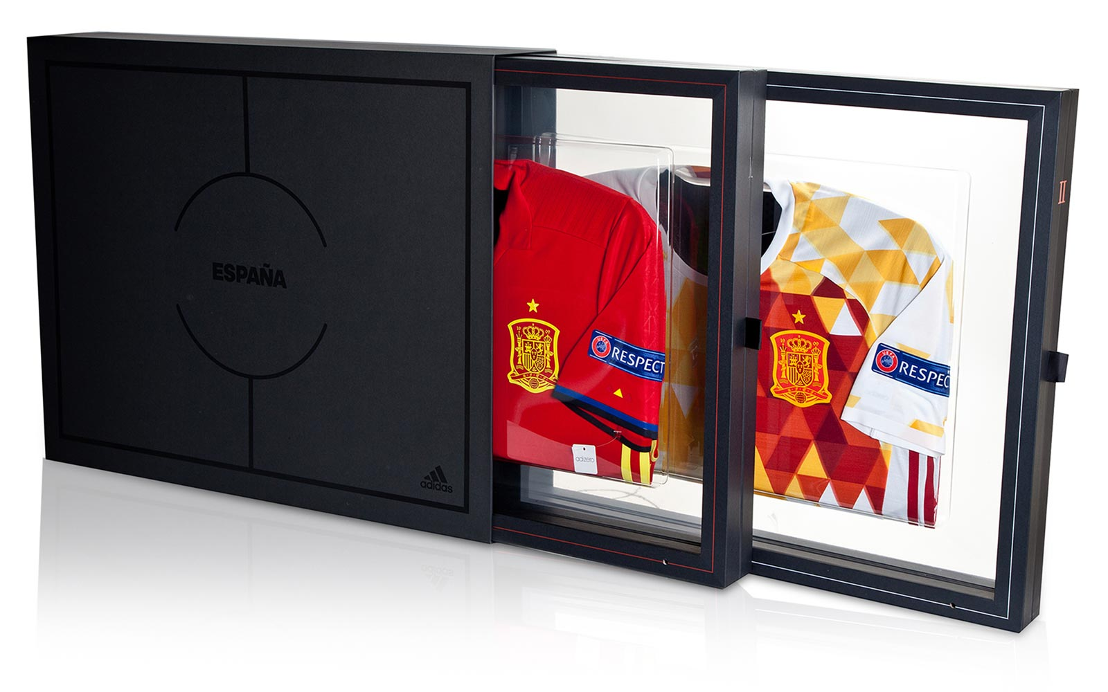 premium selection 41d36 e0ea1 ... Jersey Set In Box M Adidas Launches Limited-Edition Germany and Spain  Collectors Shirts - Footy Headlines ...