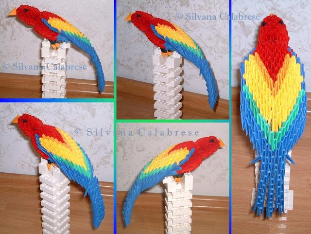 Origami 3D Parrot Loving San Francisco