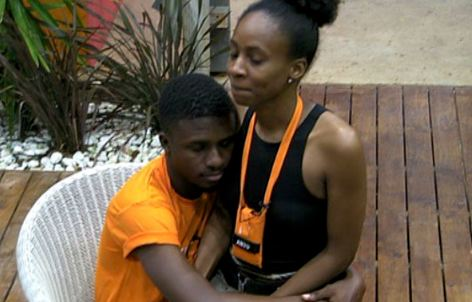 #BBNaija Housemate, Lolu Quickly Covers His Er3ct!on After Anto Stands Up From His Lap (Video)
