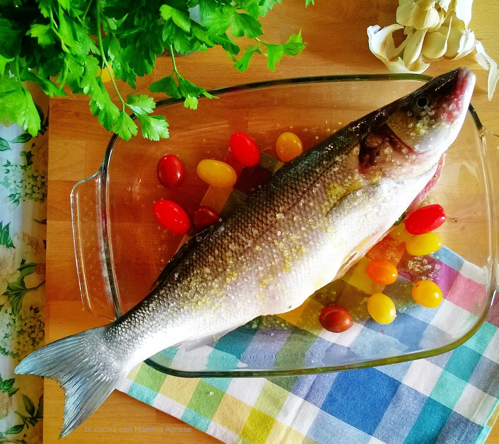 Ora Pesce Branzino Croccante Ripieno Di Pomodorini Al Profumo Di
