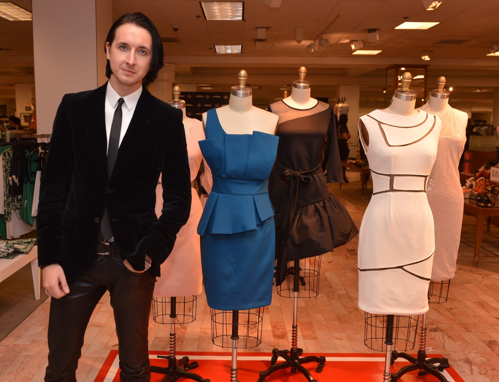 b8d158a5bf0 Dmitry Sholokhov at the launch of his debut dress collection at Lord    Taylor