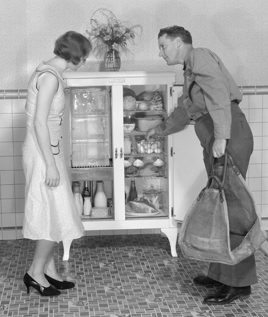 1920s ice box holds 75 pounds of ice. Oh Wait and other stories of the Refrigerator. marchmatron.com