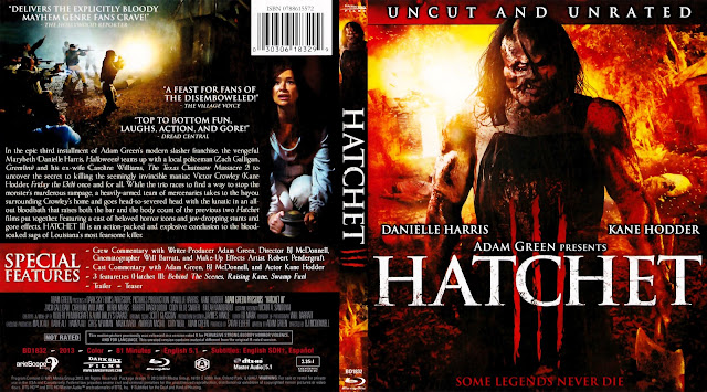 Hatchet III Bluray Cover