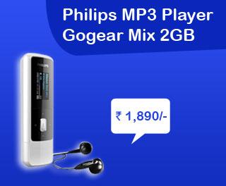 sales india philips mp3 player gogear mix 2gb. Black Bedroom Furniture Sets. Home Design Ideas