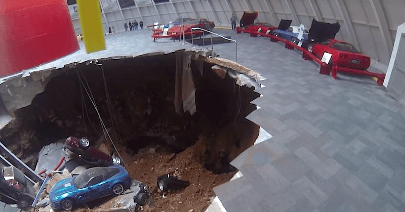National Corvette Museum >> コルベット博物館の床が崩落!貴重な展示車両8台が落下|Idea Web Tools | 自動車とテクノロジーのニュースブログ