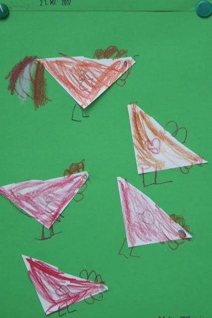 Hähne und Hühner Henne Hahn Huhn zeichnen basteln