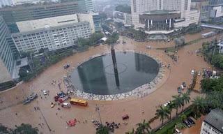 Banjir Jakarta Bundaran HI dan Tamrin