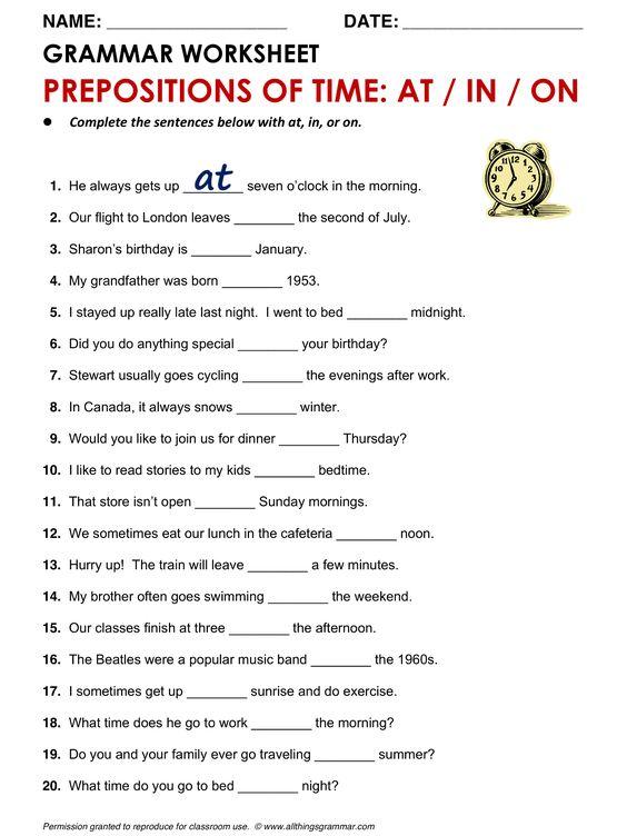 English Grammar Worksheets - Raste-enblog2