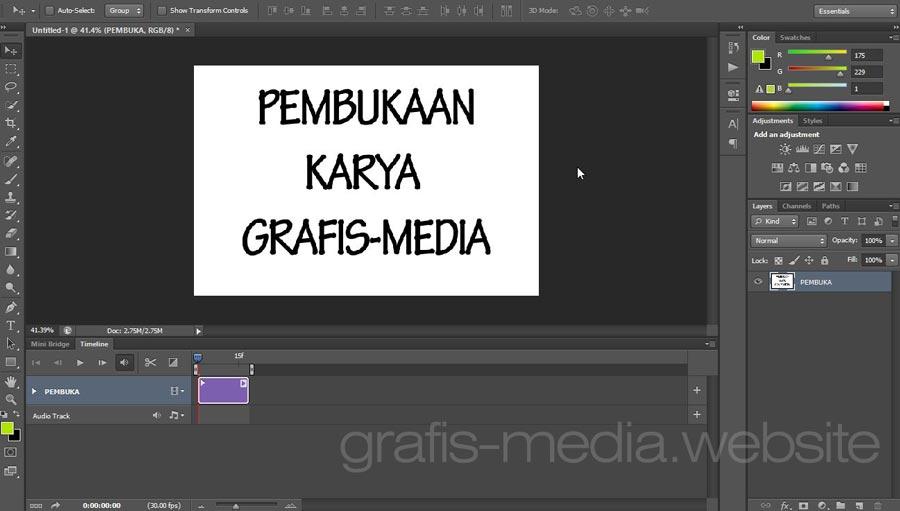 Cara Mudah Edit Foto Menjadi Video Dengan Photoshop Grafis Media