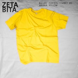 Kaos Polos Kuning - Zetabita
