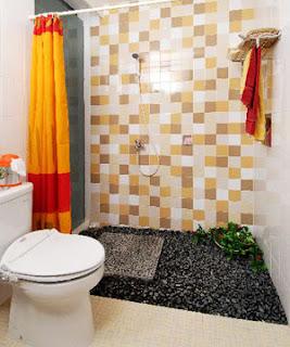 Contoh model kamar mandi minimalis segar