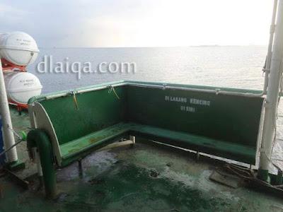 tempat wudhu di atas kapal ferry