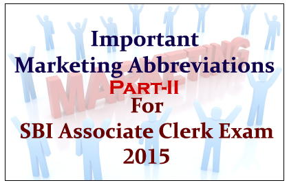 List of Important Marketing Abbreviations