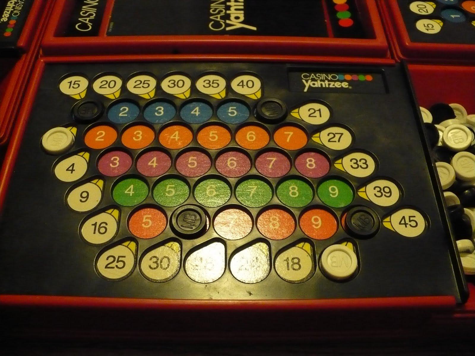 Casino Yahtzee Board Game