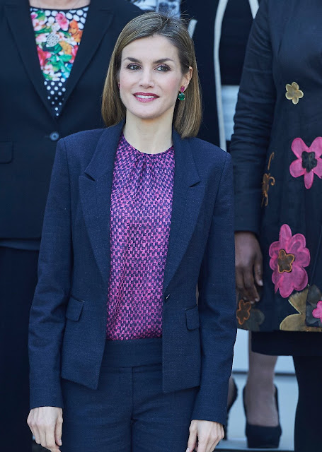 Queen Letizia of Spain attends a meeting with 'Mujeres Por Africa' foundation (Women for Africa) at the Cecilio Rodriguez Garden