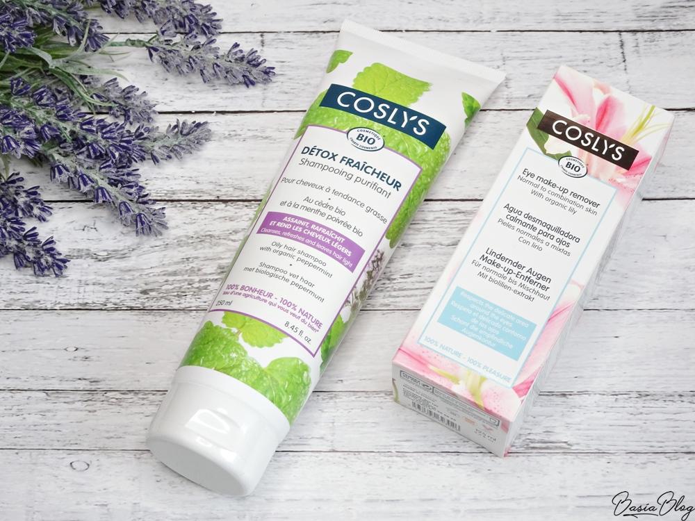 Coslys, szampon do włosów przetłuszczających się i płyn do demakijażu z ekstraktem z lilii