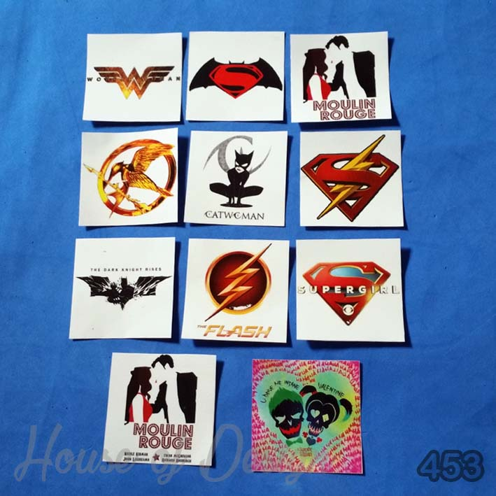 STICKER MINI ICON SUPERHERO, LOGO HEROIN CUSTOM