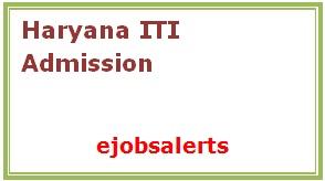 Haryana ITI Admission 2017