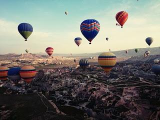 cappadocia, turkey, travel, hot air balloon, landscape,