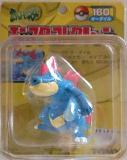 Feraligatr figure Tomy Monster Collection yellow package series