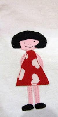 аппликация из ткани девочка