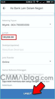 cara transfer dari mobile banking mandiri ke bca