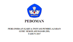 Pedoman Lomba Inobel Guru SD Tahun 2017 Dari Kemdikbud