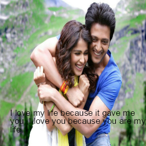 Bollywood Star Romantic DP Image with Quotes