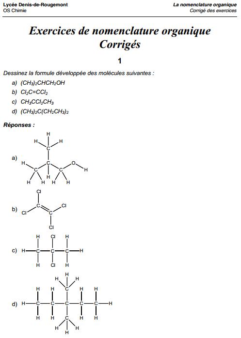 Bases De La Chimie Organique Cours Et Exercices Corrig Ef Bf Bds Syntheses En Chimie Organique