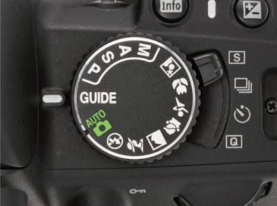 Tombol putar yang digunakan untuk setting mode pemotretan yang cukup lengkap