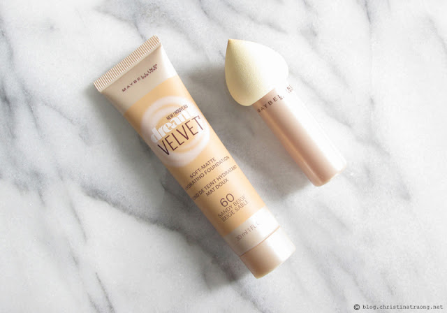 Maybelline Dream Velvet Foundation and Blender Review 60 Sandy Beige
