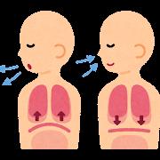 腹式呼吸のイラスト