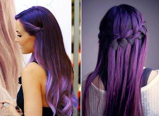 coloration violet coiffure. Black Bedroom Furniture Sets. Home Design Ideas