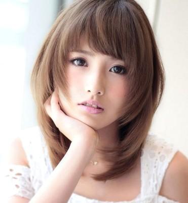 Style rambut segi layer ala wanita korea