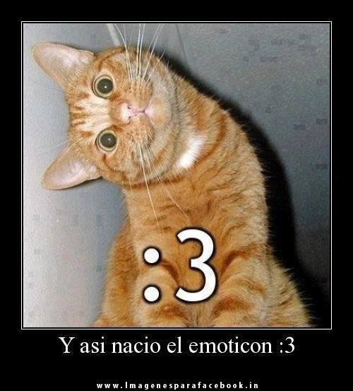 Y asi nacio el emoticon :3
