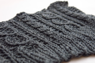 cable knitting pattern swatch