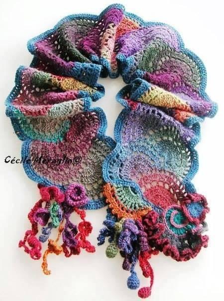 Bufanda Curvada a Crochet