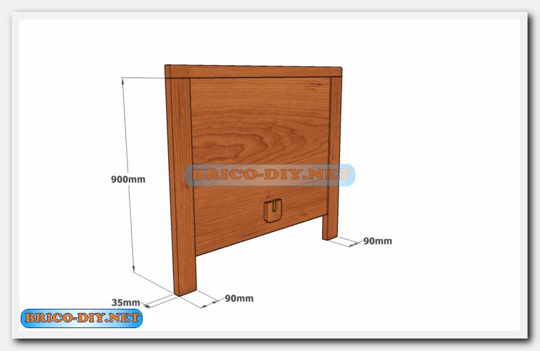 Camas de madera plano con medidas de una plaza y media for Medida estandar cama individual