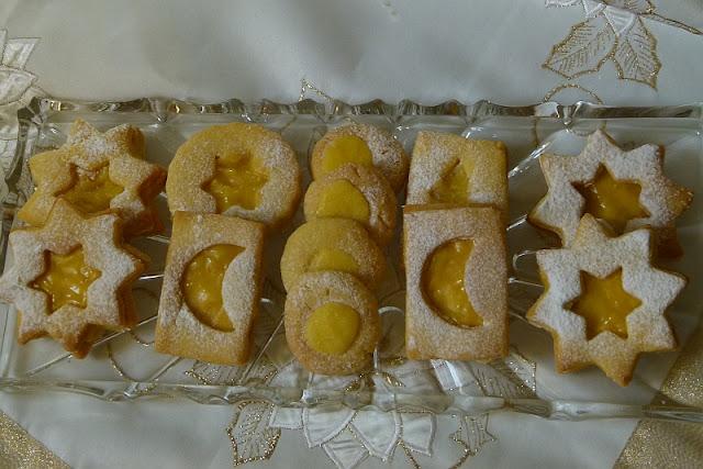Lemon Curd Weihnachtsplätzchen