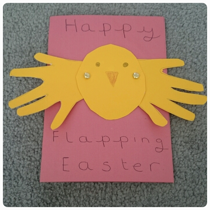 flapping chick easter card
