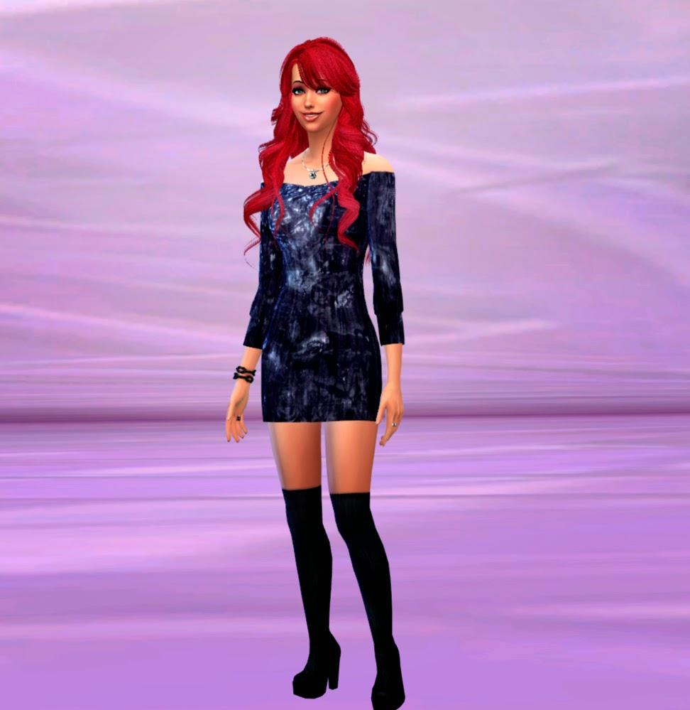 Vestido Sims 4 recoloreado