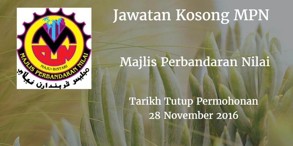 Jawatan Kosong MPN 28 November