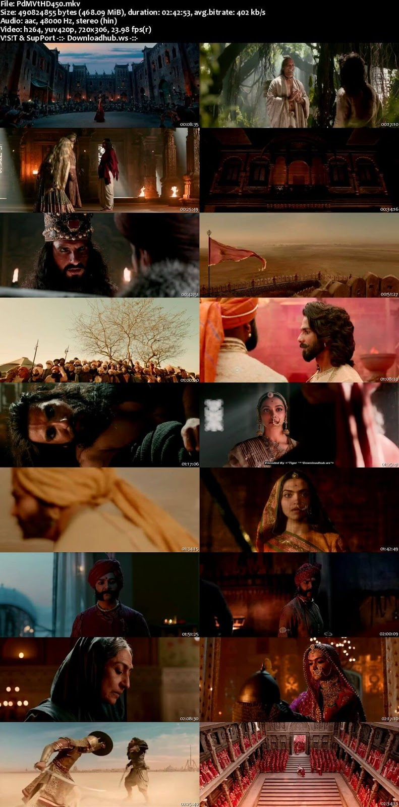 Padmaavat 2018 Hindi 480p HDRip ESubs