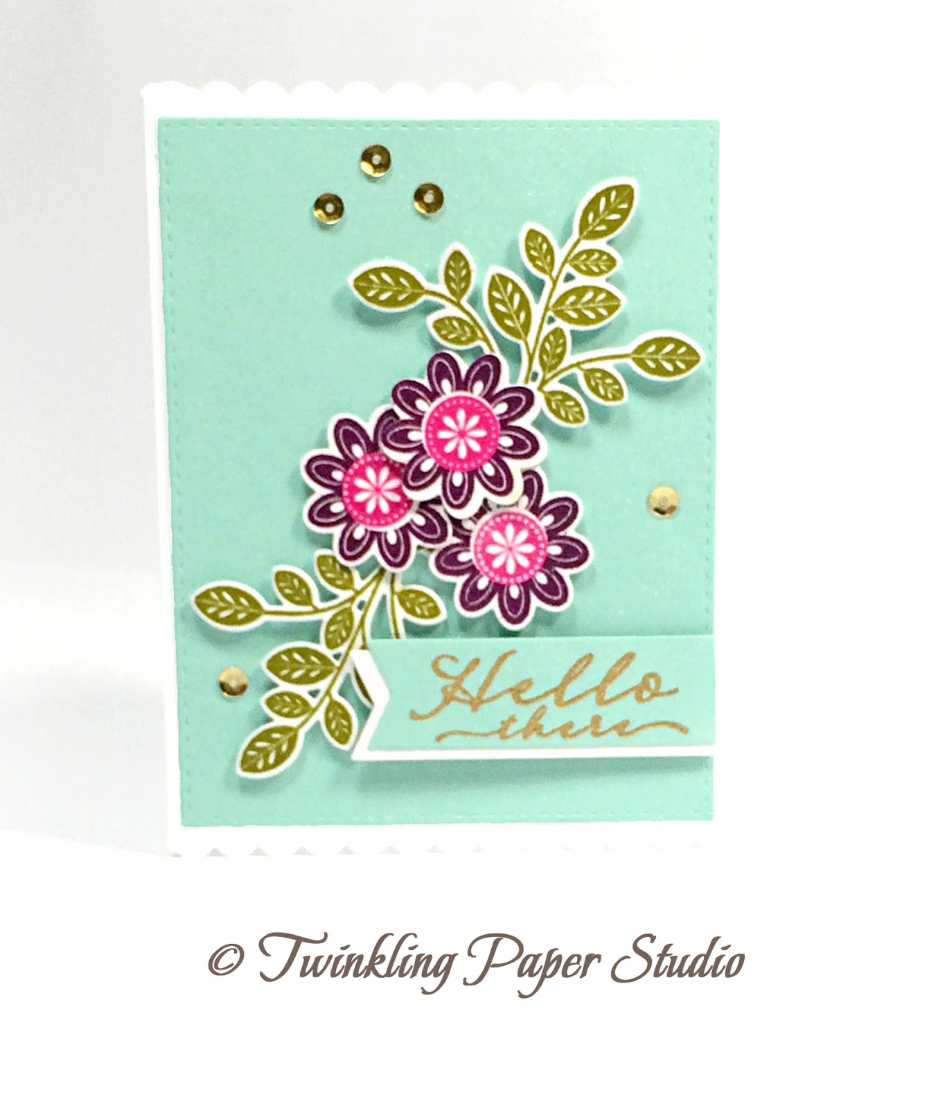 Cream colored cardstock paper studio - This Card Came Together Really Quickly And I Kept It Simple Because I Really Like How It Turned Out I Spritzed My Aqua Mist Background Panel And My