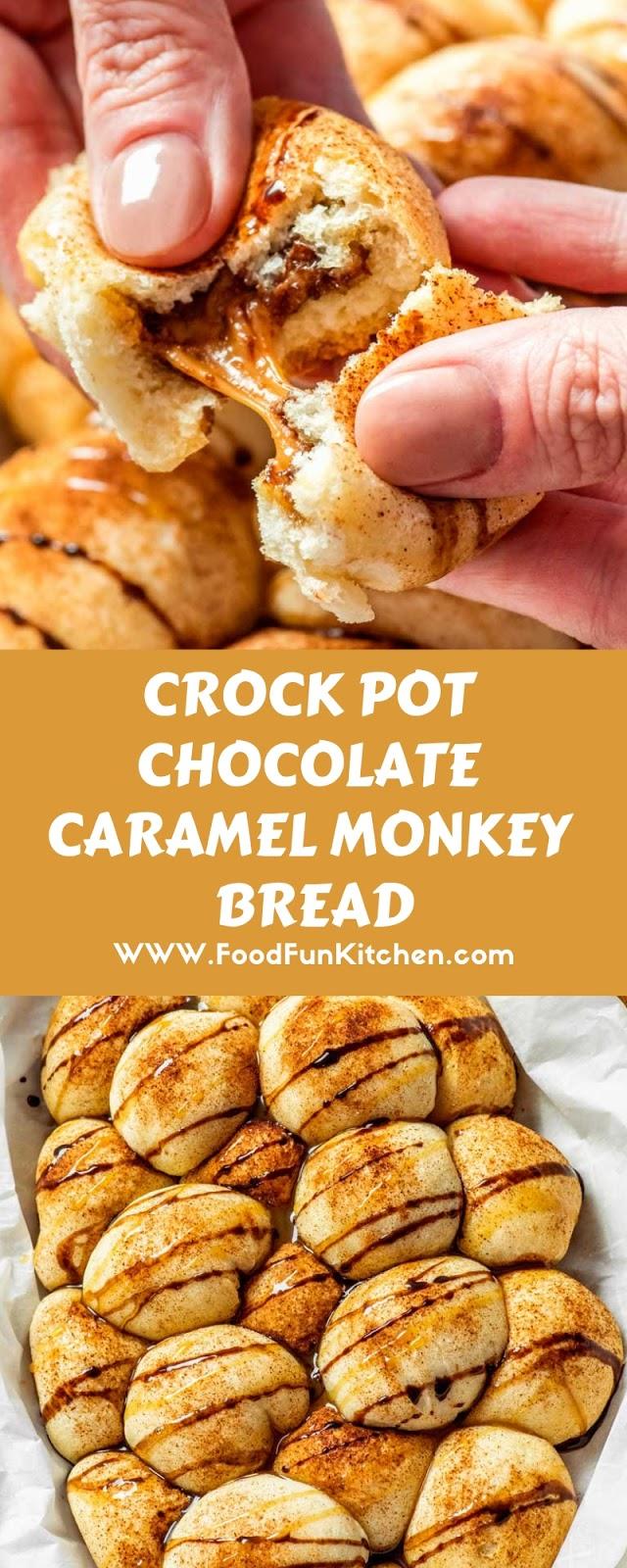 CROCK POT CHOCOLATE CARAMEL MONKEY BREAD