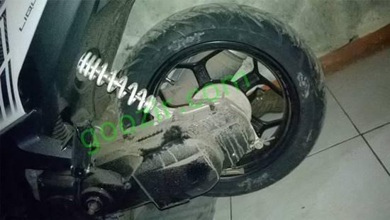 Ganti pelek dan ban tapak lebar Yamaha GT125