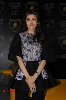 Actress Kajal Aggarwal Stills in Black Dress at Lakme Fashion Week Summer Resort 2017  0005.jpg