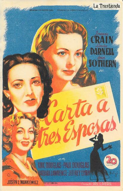Programa de Cine - Carta a Tres Esposas - Kirk Douglas - Jeanne Crain - Linda Darnell
